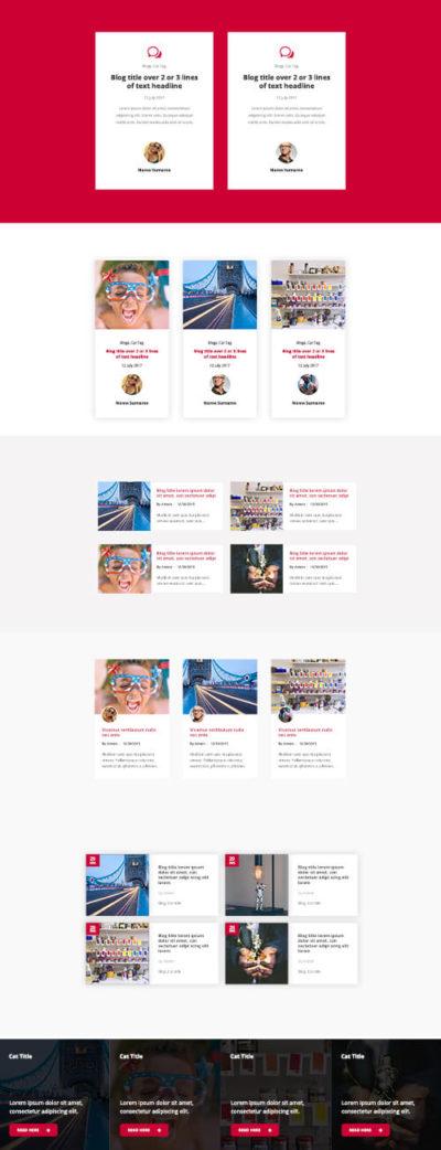 divi blog layout kit