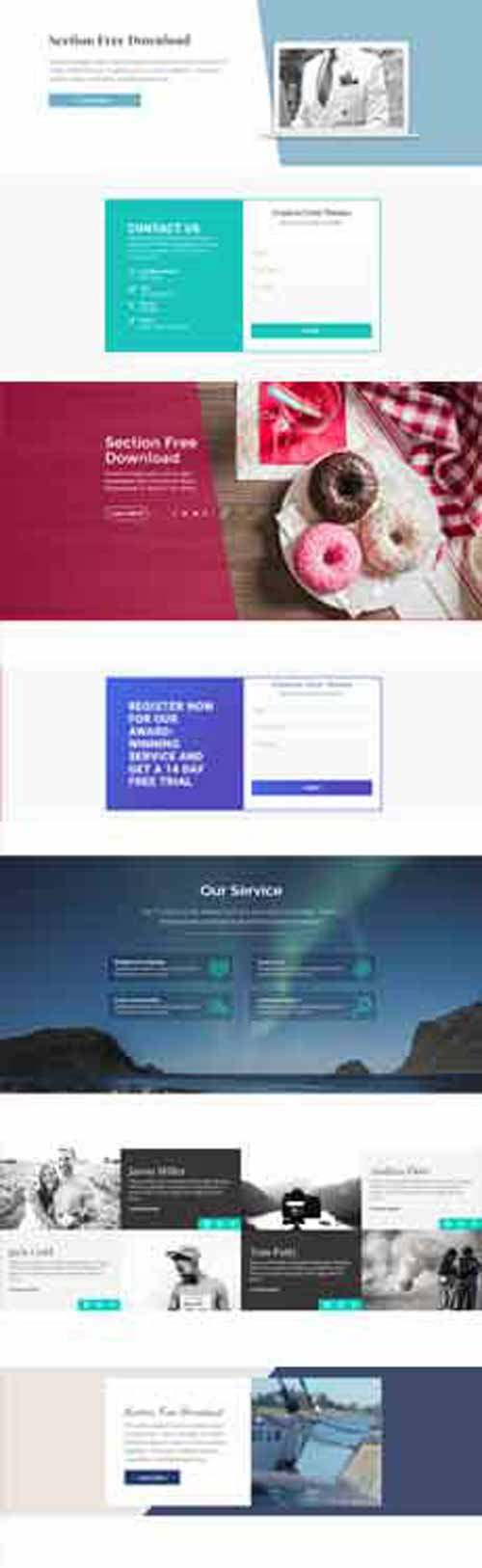 split screen layout for Divi