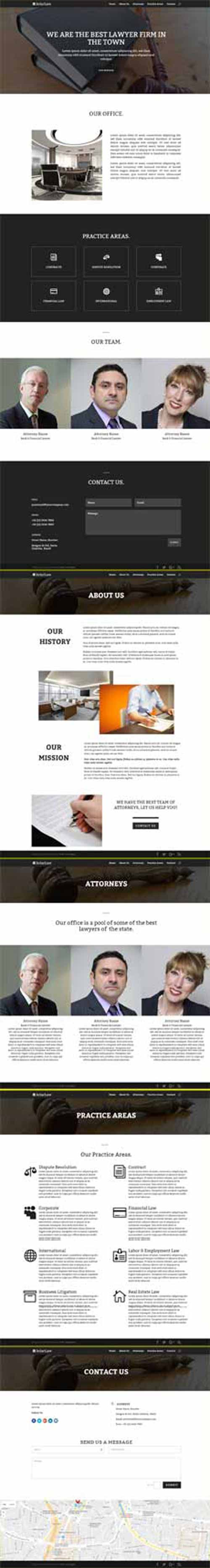 Divi lawyer layouts on Divi Theme Layouts