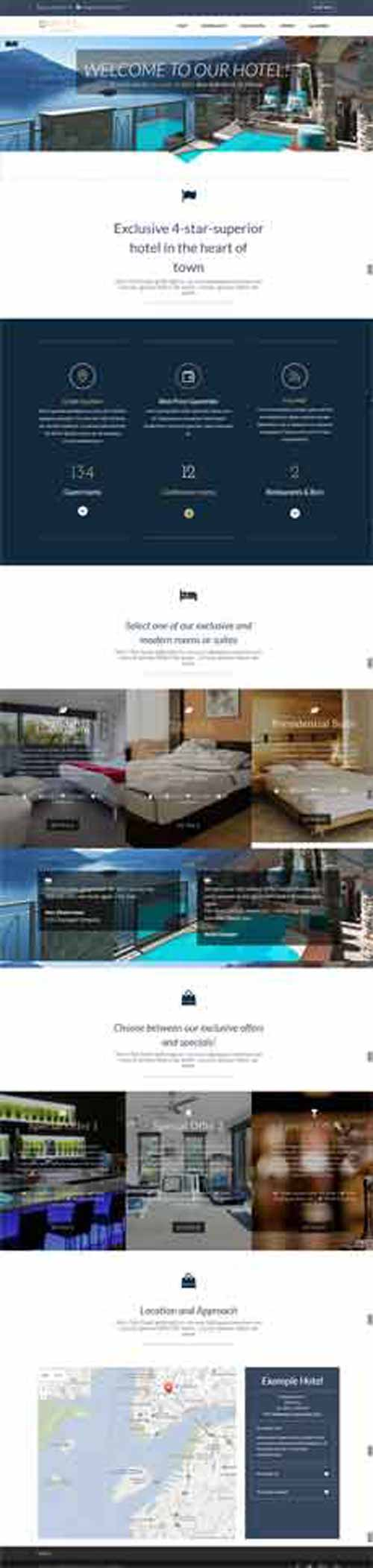Divi layout for hotel