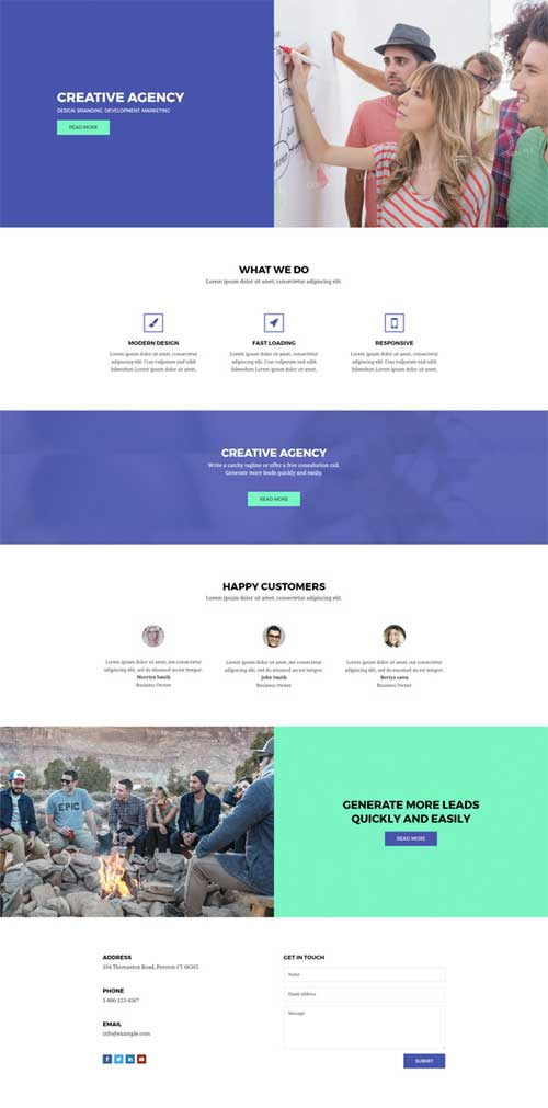 divi layout for creative agency