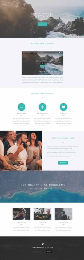 beacon divi theme layout