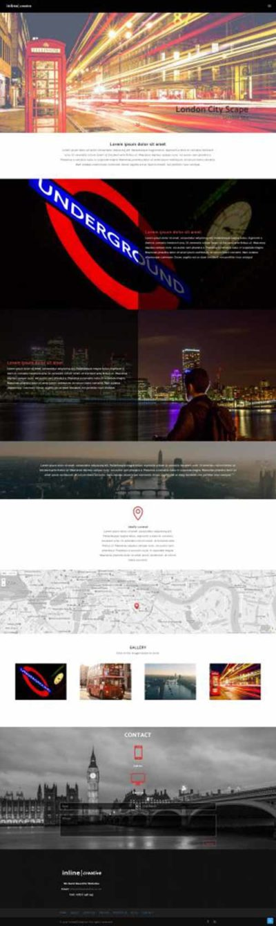 1 pager layout for Divi Theme