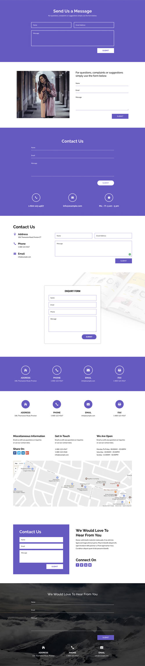 Divi contact form layouts