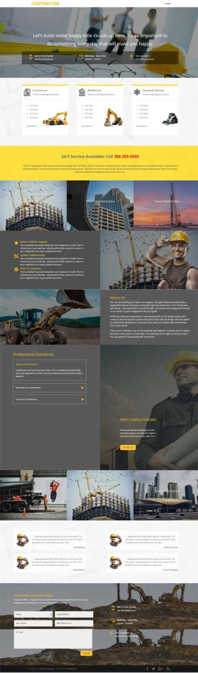 divi layout for contractors