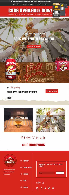 craft-brewery divi layout