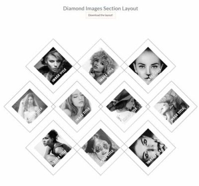 diamond image section layout