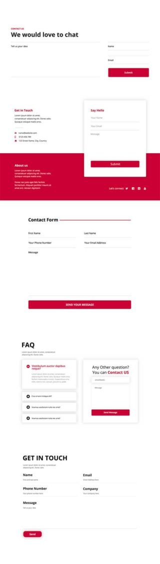 divi contact form layout kit