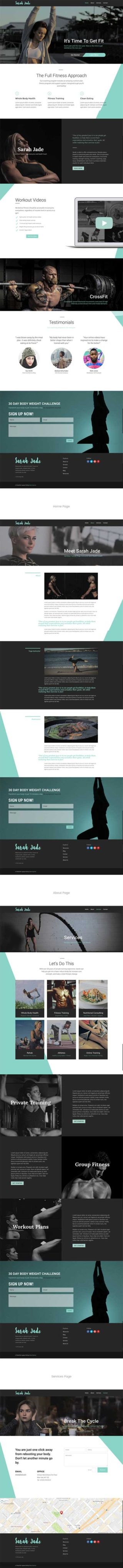 divi crossfit fitness layout pack