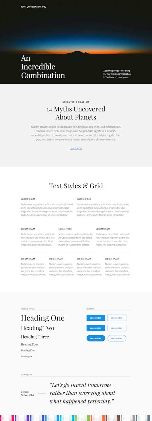 Divi fonts layout pack