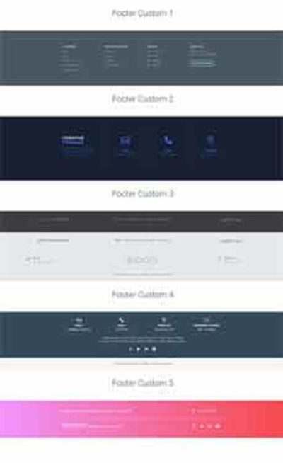 divi footer sections layout