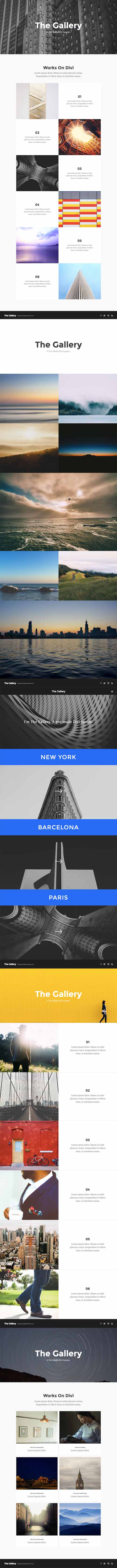 divi gallery layout pack