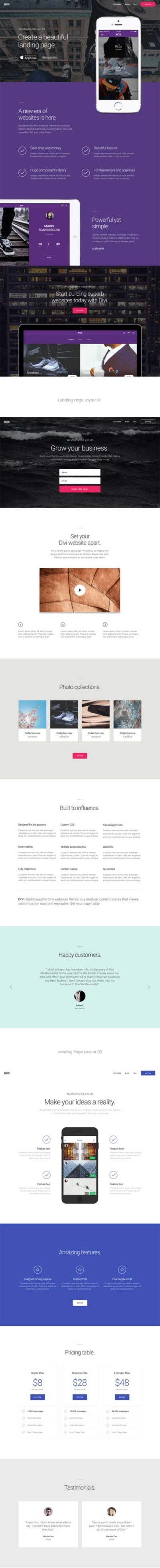 divi landing page layout pack