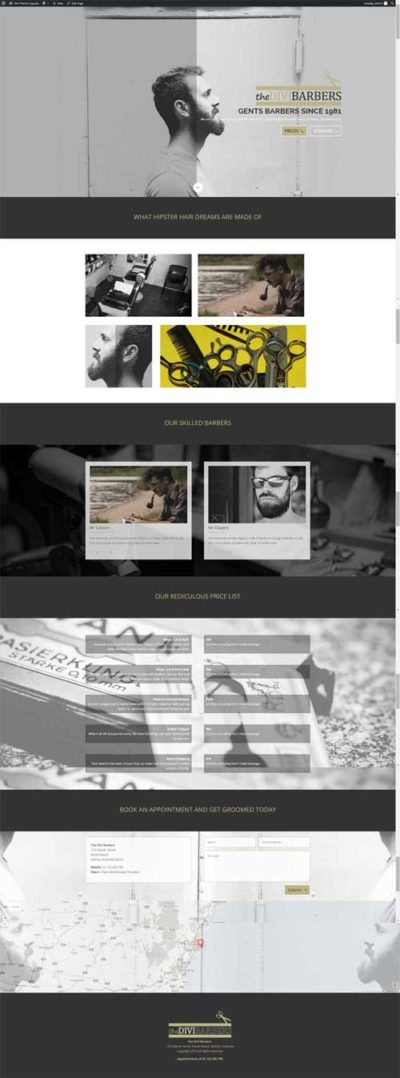 divi layout for barbers