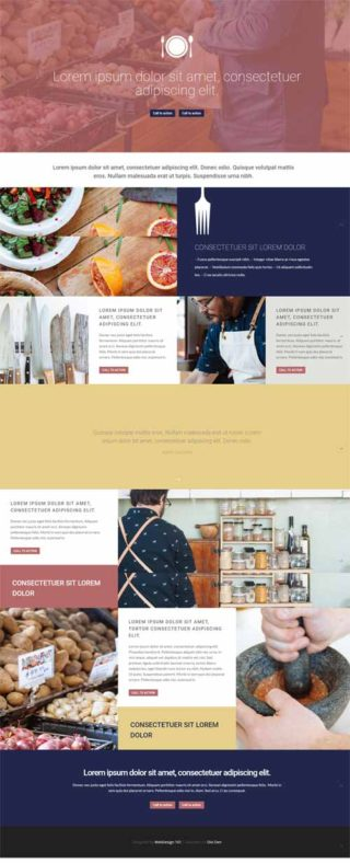 divi layout for foodies page