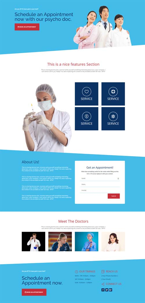 divi layout for medical clinic