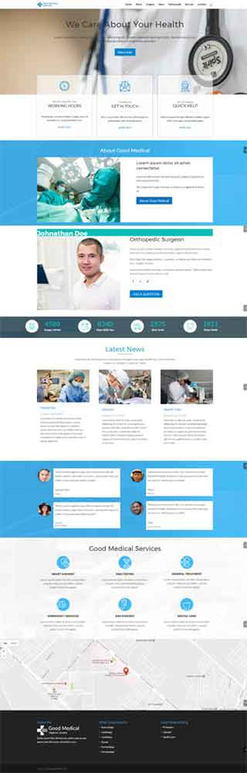 Divi layout for medical