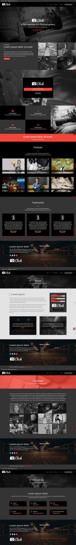 divi layout for photographers