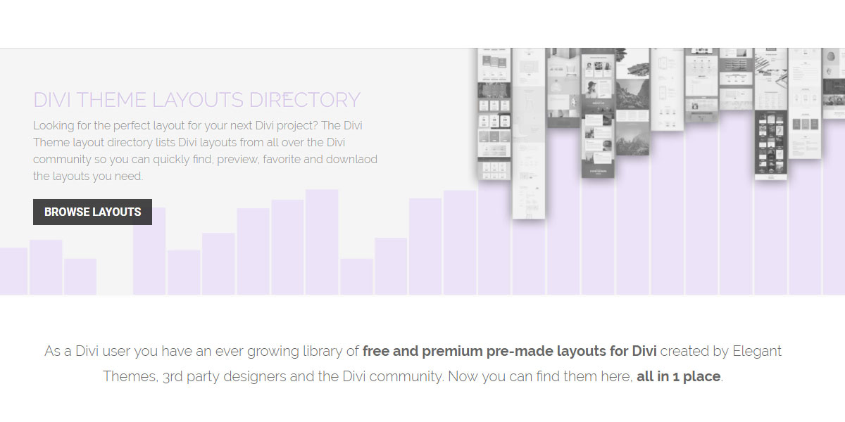 Divi Theme layouts directory lists all the best layouts for Divi