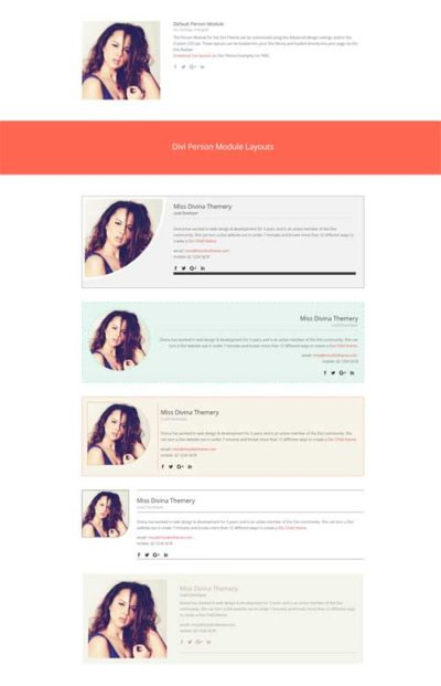 divi person module layout