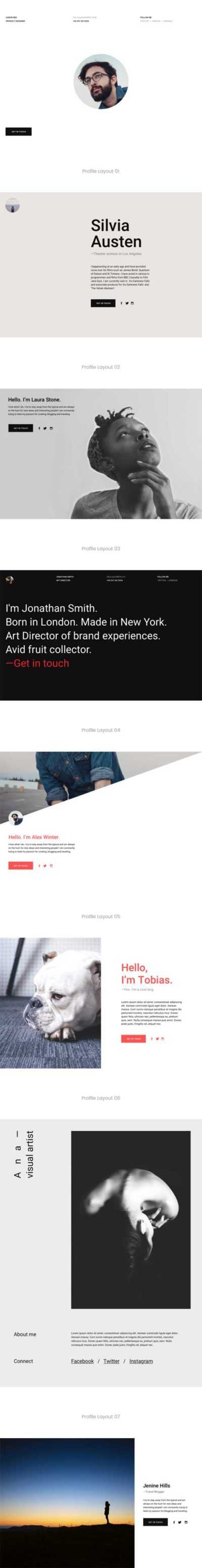divi profile page layout