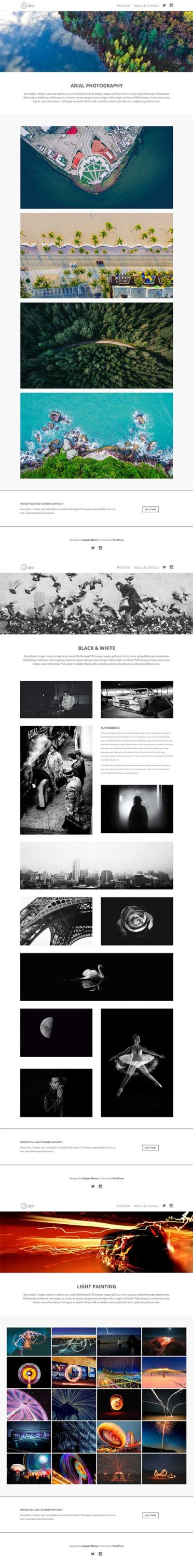 divi project layout pack