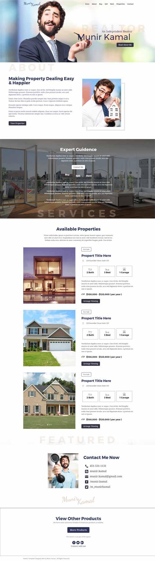 divi theme real estate layout
