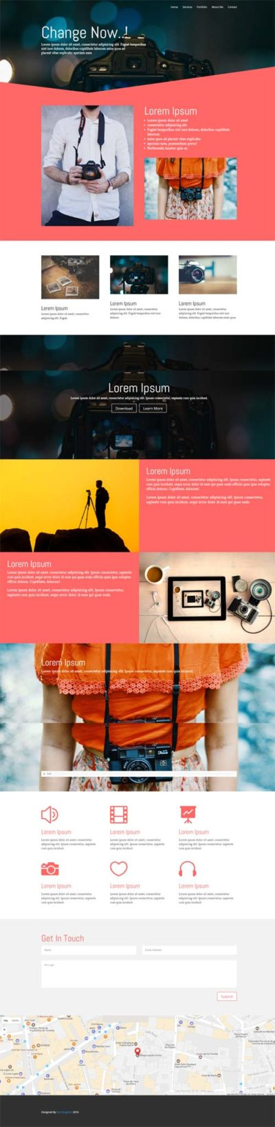 divi red layout