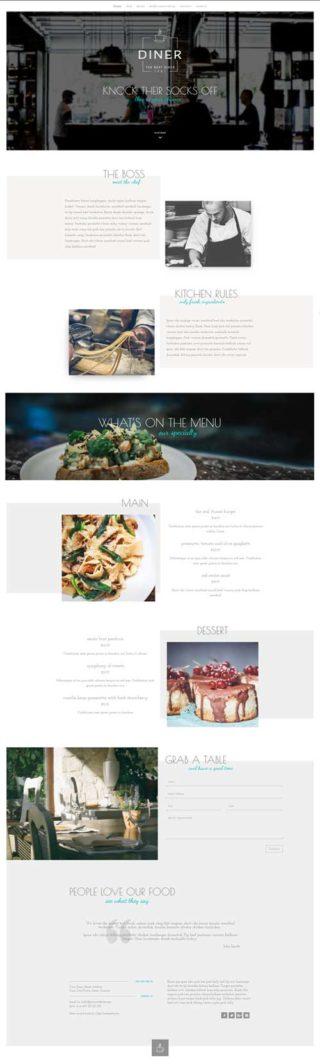 divi restaurant layout free