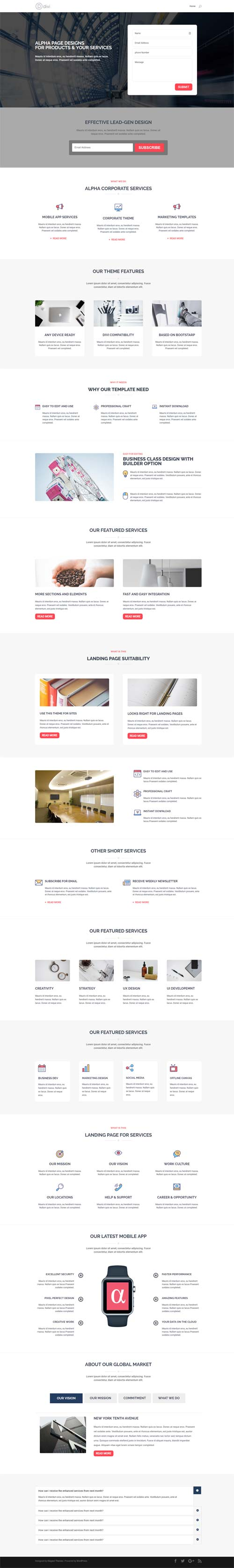 divi sections layout pack