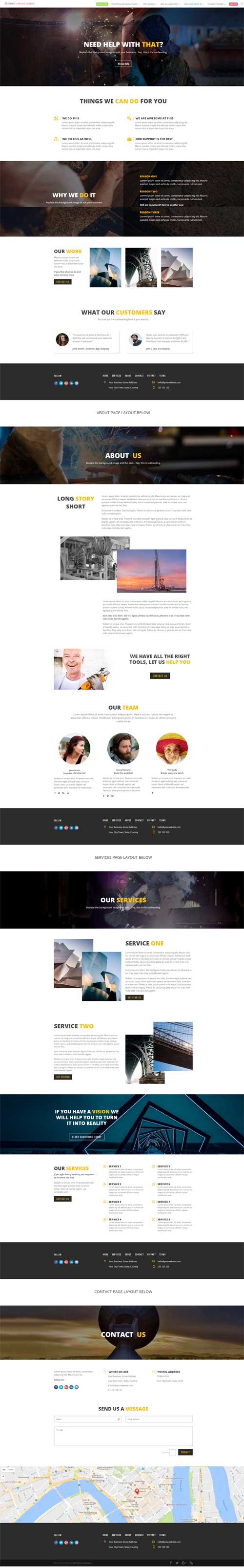divi small business layout pack