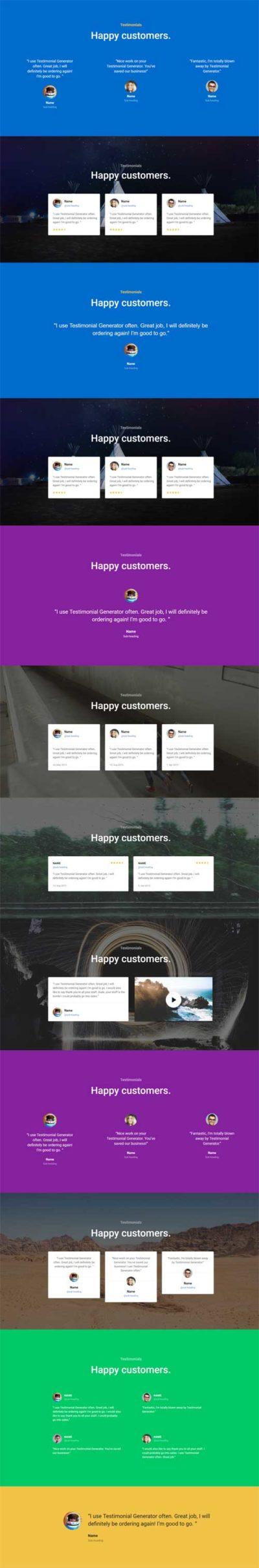 divi testimonial layout pack