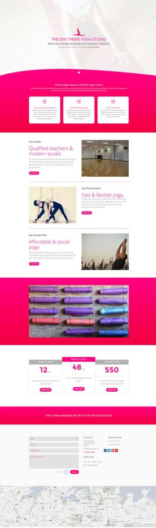 divi yoga layout
