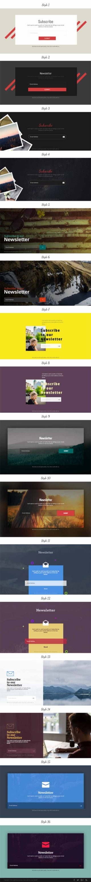 email signup layout for divi