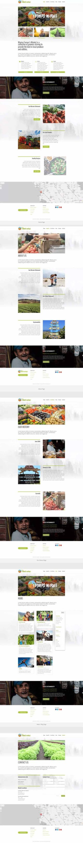 farmers market layout for divi