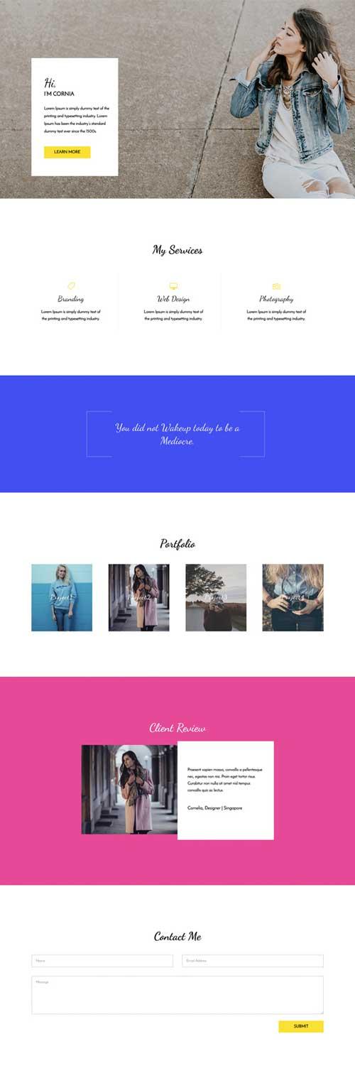 female-entrepreneur layout for divi theme