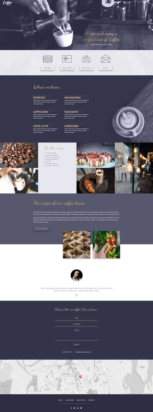 free divi cafe layout