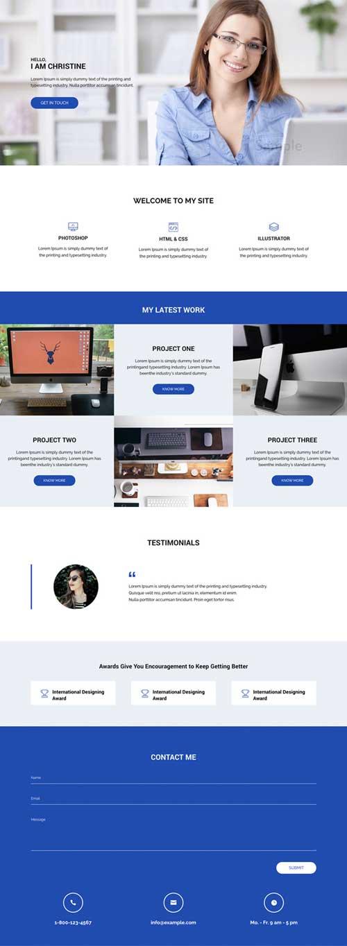 Divi layout for freelancer