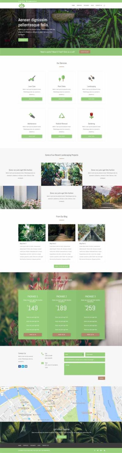 gardening layout for divi theme