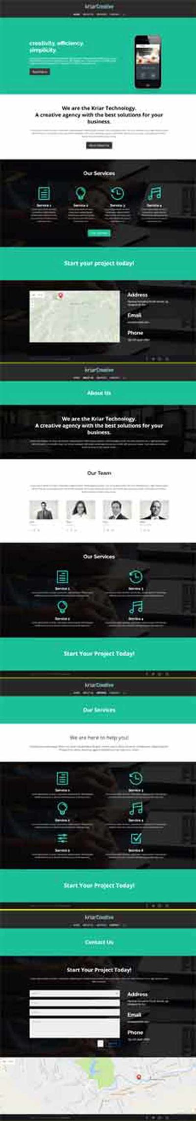 kriar creative Divi layout