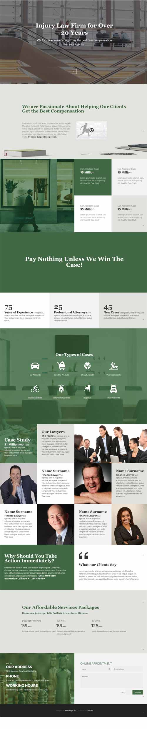 divi layout for law firm