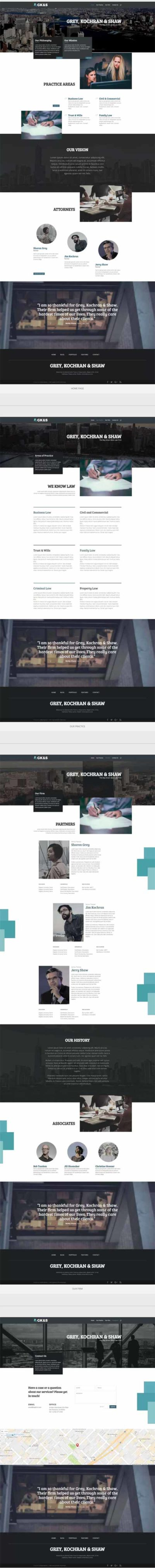 lawyer attorney divi layout