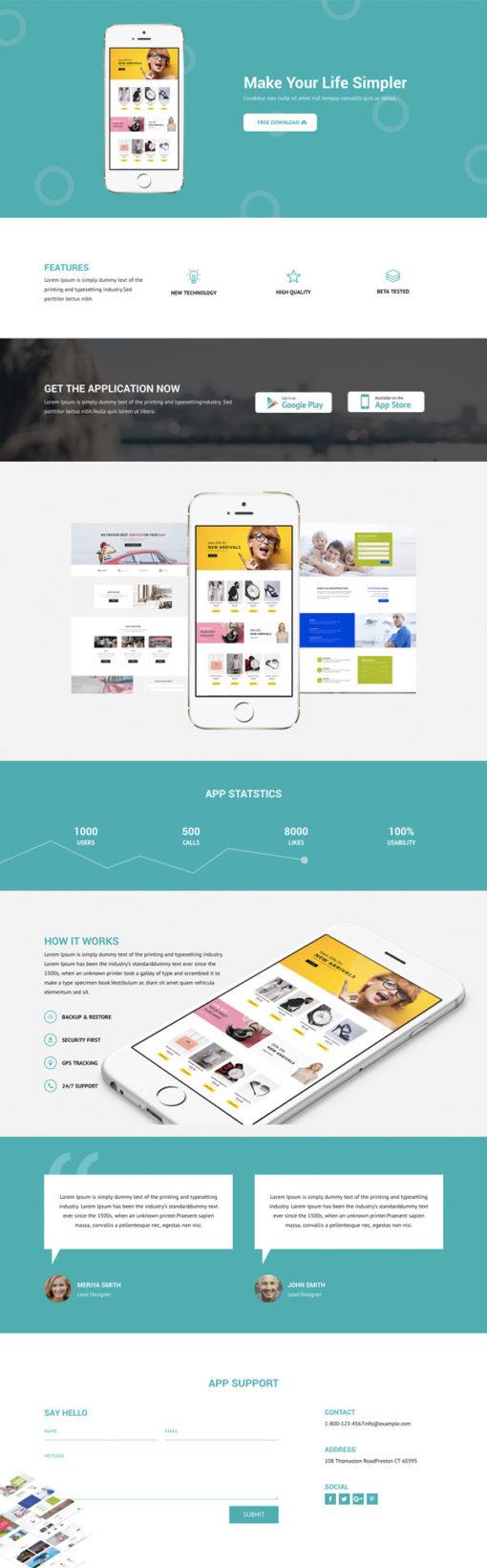 Divi layout for mobile app