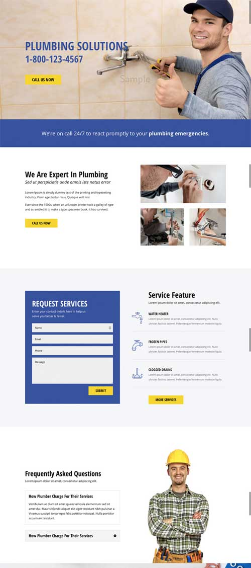 divi layout for plumber