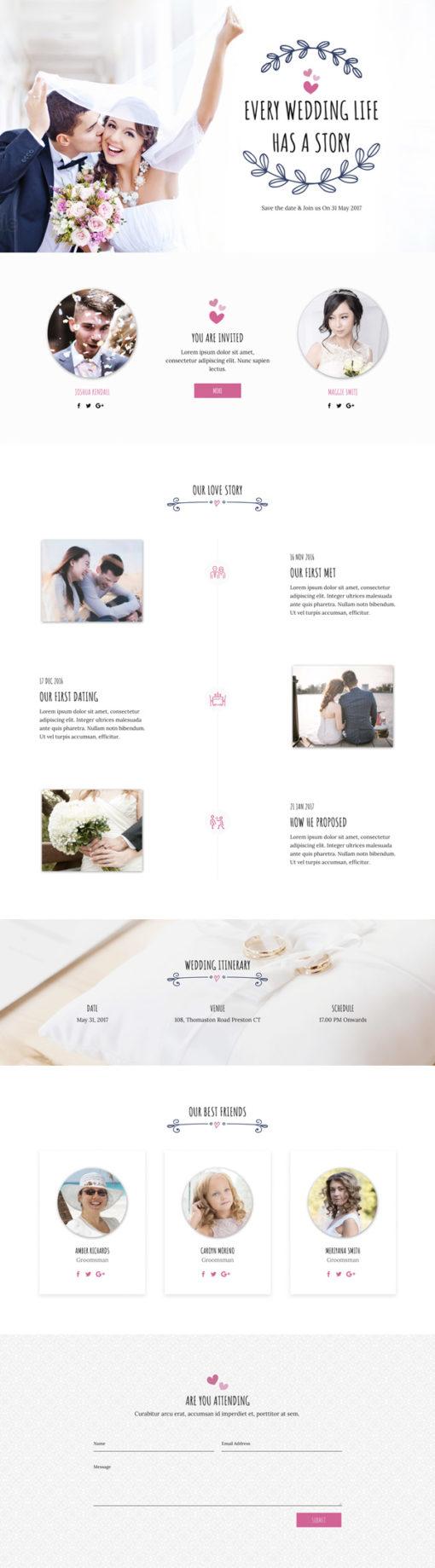 Divi layout for wedding invite