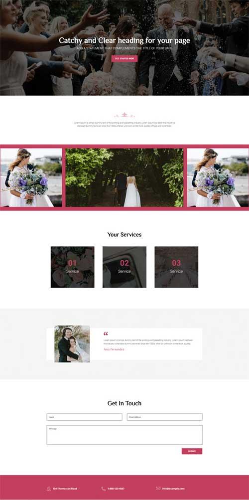 divi layout for wedding planner