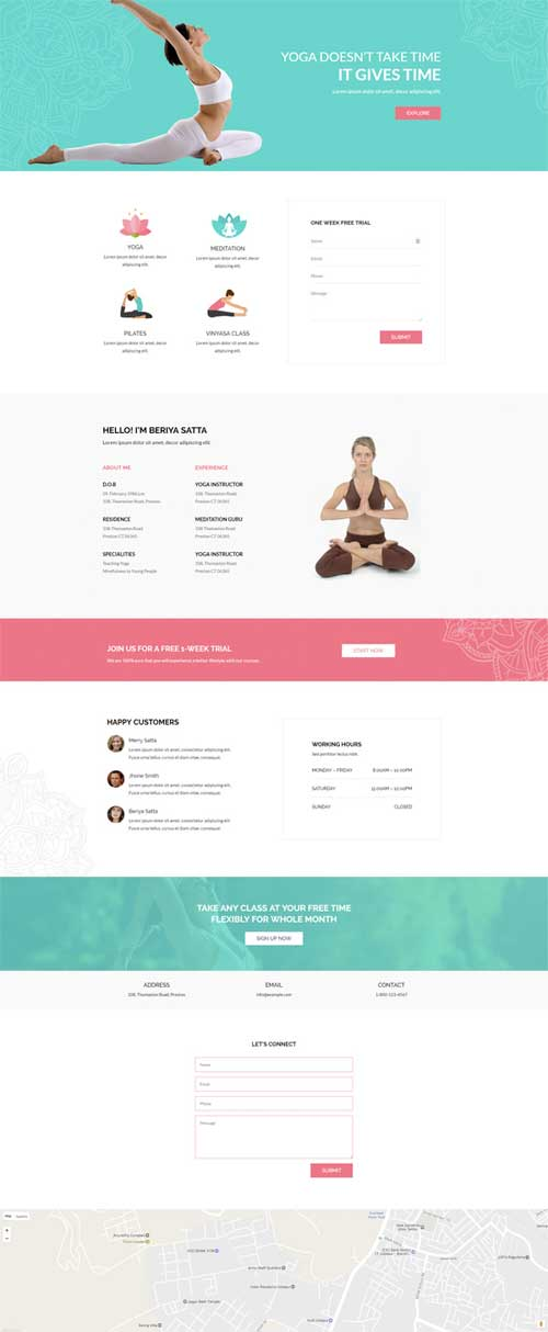 yoga layout for Divi Theme