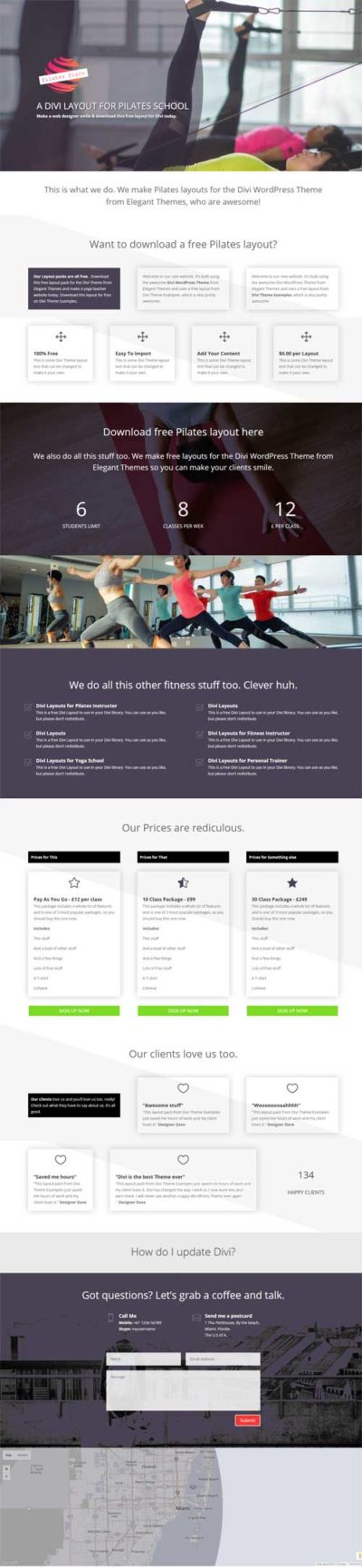 divi-pilates-yoga-layout