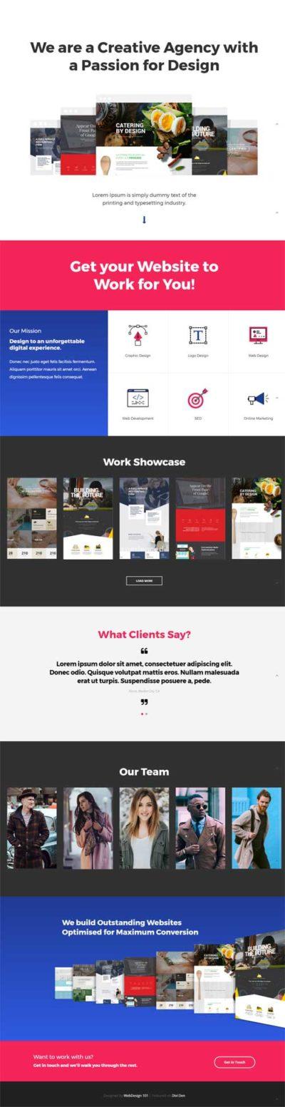 free divi layout web design