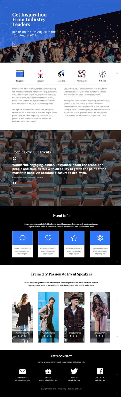 divi layout for event
